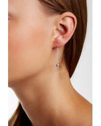 Argento Vivo - Metallic Sterling Silver Ball Chain Threader Earrings - Lyst