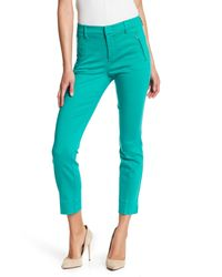 Level 99 - Blue Lacey Side Zip Welt Pocket Trousers - Lyst