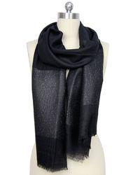 Saachi - Black Subtle Shimmer Cashmere Wrap - Lyst
