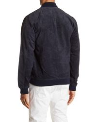 Obey - Blue Clifton Genuine Suede Jacket for Men - Lyst