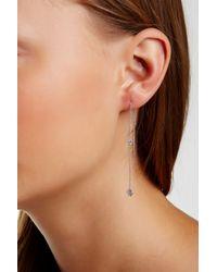 Argento Vivo - Metallic Cz Station Threader Chain Earrings - Lyst