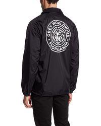 Obey | Black Worldwide Seal Coach Jacket for Men | Lyst