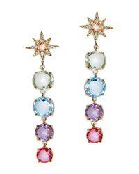 Anzie - Blue Gemstone Burst Drop Earrings - Lyst