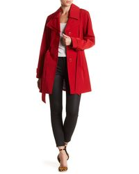 London Fog - Red Double Notch Collar Trench Coat - Lyst