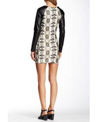 One Teaspoon | Multicolor Boneyard Faux Leather Sleeve Dress | Lyst