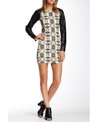 One Teaspoon - Multicolor Boneyard Faux Leather Sleeve Dress - Lyst
