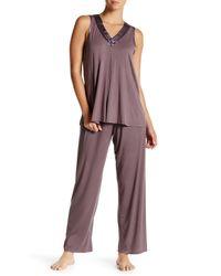 Carole Hochman - Purple Sleeveless Pajama 2-piece Set - Lyst