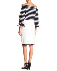 J.Crew - White Scalloped Linen Pencil Skirt - Lyst