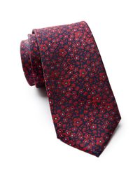 Tommy Hilfiger - Red Silk Micro Floral Tie for Men - Lyst