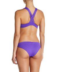 Maaji - Purple Violet Trails Triangle Soft Cup Reversible Bikini Top - Lyst