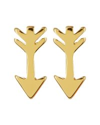 Gorjana | Metallic 18k Gold Plated Arrow Stud Earrings | Lyst