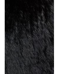 Love Token - Black Long Genuine Rabbit Fur Vest - Lyst