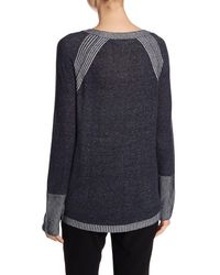 Two By Vince Camuto | Blue Raglan Sleeve Knit Pullover | Lyst