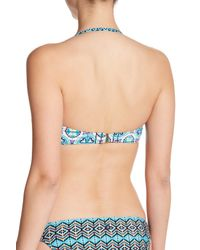Sperry Top-Sider - Blue Twist Bandeau Bikini Top - Lyst