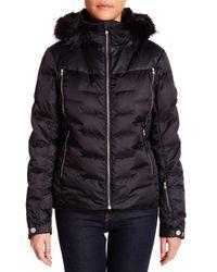 Spyder - Black Genuine Coyote Fur Collar Coat - Lyst