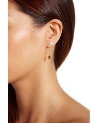 Gorjana - Metallic 18k Gold Plated Arrow Chain Double Stud Earrings - Lyst