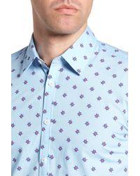 Jeremy Argyle Nyc - Blue Slim Fit Turtle Print Sport Shirt for Men - Lyst