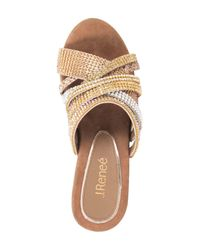 J. Reneé - Multicolor Hardscrabble Wedge Sandal - Lyst