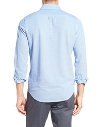 Bonobos - Blue Slim Fit Long Sleeve Pique Polo for Men - Lyst