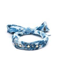 DANNIJO   Blue Iris Silk Bandana Choker Necklace   Lyst