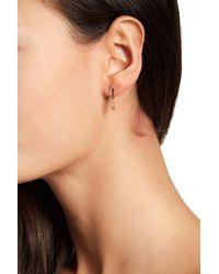 Ron Hami | Metallic 14k Gold & Diamond Bar Chain Huggie Earrings - 0.09 Ctw | Lyst
