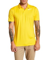 d86c0bec Lyst - Nike Dri Solid Golf Polo Shirt in Yellow for Men