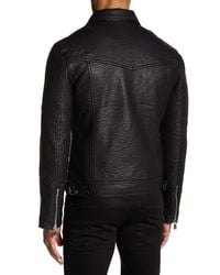 ELEVEN PARIS - Black Elmut M Faux Leather Zip Jacket for Men - Lyst