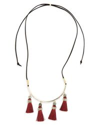 Panacea - Metallic Tassel Necklace - Lyst