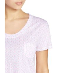 Carole Hochman - White Print Cotton Sleep Shirt - Lyst