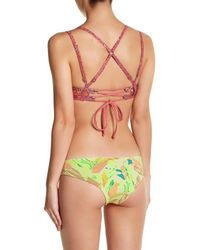Maaji - Multicolor Oil Paint Palette Reversible Cheeky Bikini Bottom - Lyst