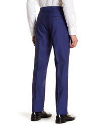 Strong Suit - Blue Dagger Flat Front Trim Fit Trousers for Men - Lyst