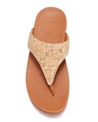 Fitflop - Multicolor Lulu Toe Post Cork Platform Sandal - Lyst