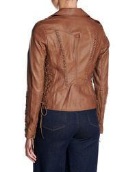 Coffee Shop - Multicolor Lace-up Faux Leather Jacket - Lyst