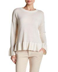 Catherine Malandrino | Multicolor Ruffle Hem Cashmere Sweater | Lyst