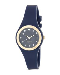kate spade new york | Blue Women's Rumsey Silicone Strap Watch | Lyst
