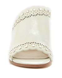 Pour La Victoire - White Amela Embellished Slide Sandal (women) - Lyst