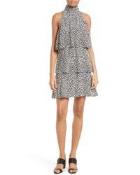 Tracy Reese   Gray Sleeveless Print Halter Dress   Lyst
