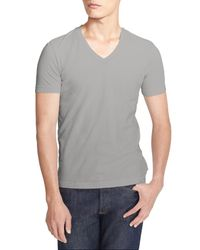 James Perse - Gray Short Sleeve V-neck T-shirt for Men - Lyst