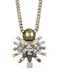 BaubleBar | Metallic Nova Crystal & Stone Pendant Necklace | Lyst
