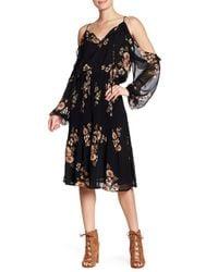 Astr - Black Persephone Cold Shoulder Dress - Lyst