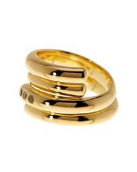 Elizabeth and James - Metallic Leda Ring - Lyst