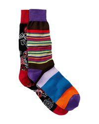 Bugatchi | Blue Printed Socks - Pack Of 2 for Men | Lyst