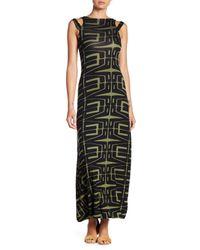 Clayton - Black Sylvia Cold Shoulder Maxi Dress - Lyst