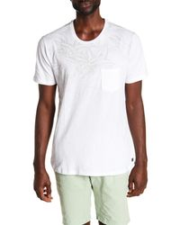 Civil Society - White Ombre Printed Chest Pocket Tee for Men - Lyst