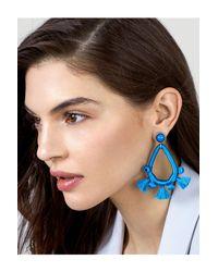 BaubleBar - Blue Sardinia Wrapped Tassel Drop Earrings - Lyst