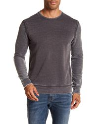 John Varvatos - Gray Crew Neck Pullover for Men - Lyst