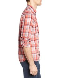 Grayers - Red Sandover Plaid Poplin Sport Shirt for Men - Lyst