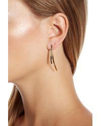 Lana Jewelry - Metallic 14k Gold Small Bar Reflector Earrings - Lyst