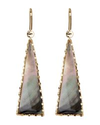 Lana Jewelry | Metallic 14k Gold Mystiq Triangle Drop Earrings | Lyst