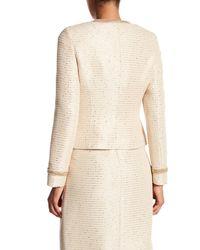 Basler | Natural Tweed Beige Gold Chain Jacket | Lyst